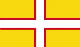 3ft x 2ft 100d Dorset County Flag of Dorset - Flags for Sale West Country Seller